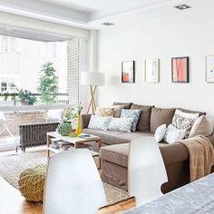 Distribución funcional en un piso de ciudad: Sofá con chaise longue