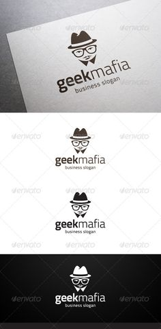 Geek Mafia Logo — Vector EPS #app #science • Available here → https://graphicriver.net/item/geek-mafia-logo/4958950?ref=pxcr