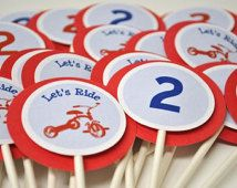 Tricycle Cupcake Toppers