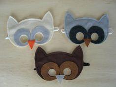 Child's Owl Mask by Mahalo on Etsy