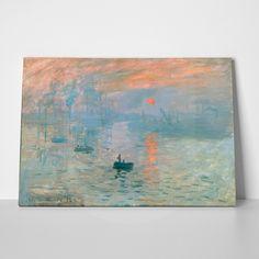 AZQSD Modern Landscape Art Print Poster Claude Monet Impressionism Sunrise Wall Picture Canvas Oil Painting Home Decor Claude Monet, Canvas Art Prints, Fine Art Prints, Vacation Pictures, Decoration, Wrapped Canvas, Find Art, Poster Prints, Photos