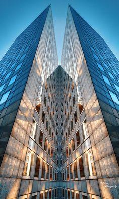 Paris in Blue - La Défense. Paris by Sebdows Photography Gothic Architecture, Futuristic Architecture, Beautiful Architecture, Contemporary Architecture, Architecture Details, Interior Architecture, Architecture Colleges, Rendering Architecture, Architecture Diagrams