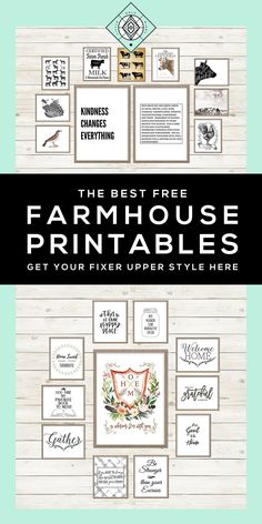 40+ Free Farmhouse Printables for that Fixer Upper Vibe
