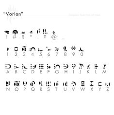 """""""Vorlon"""" fontref + resources by Designers-Guild alphabet font language painting drawing resource tool how to tutorial instructions 