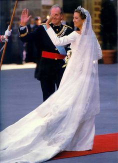 Infanta Cristina of Spain with her Father Don Juan Carlos I, King of Spain