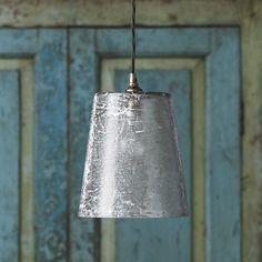 Hazel pendant in silvered glass