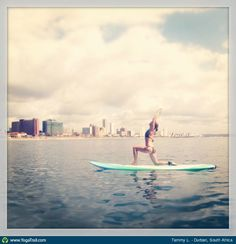 "Anywhere Yoga Contest: ""Tammy L., in Durban, South Africa"" Great Places, Places To Go, Durban South Africa, Paddle Board Yoga, Teacher Favorite Things, My Yoga, Beach Bum, Yoga Inspiration, Lunges"