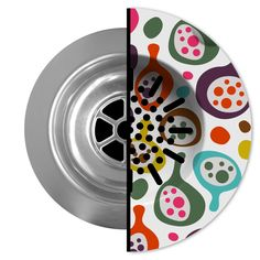 """Hate cleaning the drain strainer? Check out these disposable, recyclable """"Sink Skins"""" - lots of cool designs!"""