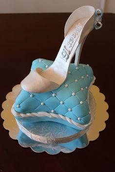 Cinderella Sweet Sixteen pillow cake (red velvet with whipped vanilla bean frosting). Cinderella Sweet 16, Cinderella Birthday, Shoe Cupcakes, Cupcake Cakes, Sweet 15 Cakes, Vanilla Bean Frosting, Pillow Cakes, 16 Birthday Cake, Fashion Cakes