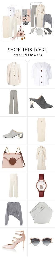 """Update Your Work Wear!"" by lheijl ❤ liked on Polyvore featuring Leith, Isa Arfen, Barbara Casasola, Marion Parke, Nanushka, Danse Lente, Elizabeth and James, The Row, Michael Kors and Balenciaga"