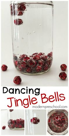Christmas science experiment for kids with dancing jingle bells from Modern Preschool!