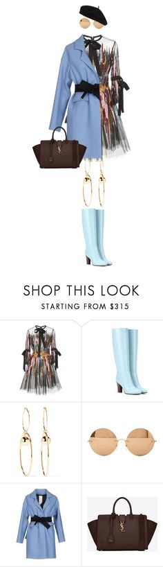 """eva1854"" by evava-c ❤ liked on Polyvore featuring Elie Saab, Valentino, STELLA McCARTNEY, Victoria Beckham, Annie P., Yves Saint Laurent and Accessorize"