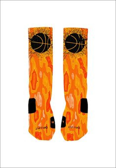 Custom Basketball Socks Custom Nike Elites by NikkisNameGifts