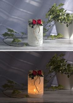 Christmas candleholder inspiration  http://www.sashe.sk/Pipistrela/detail/vianocny-svietnik-biely