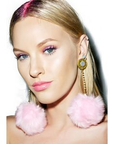 Suzywan Deluxe Fluffy Pom-Pom Earrings | Dolls Kill