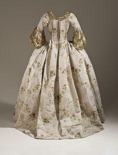 Robe à la française, ca 1760-65 France or England, LACMA