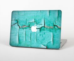 """The Peeling Teal Paint Skin Set for the Apple MacBook Pro 15"""" with Retina Display from Design Skinz"""