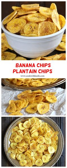 Banana Chips or Plantain Chips is a salty, cripsy and irresistible homemade snack prepared using just 3 ingredients in less than 20 minutes and gets over in no time. A great food recipe for your football party, superbowl, tailgating events, diwali parties or any holiday get togethers. #partyappetizers #partysnacks #partyfood #tailgatingfood #footballpartyfood #gamenightfood #superbowl#diwaliparty #fallrecipes #autumnrecipes #holidayrecipes #indiansnacks #indianrecipes #vegetarian #whole30…