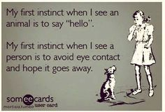 instincts of eye contact
