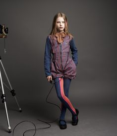 Go faster tights and contrast striped bloomer shorts suit for winter 2012 from No Added Sugar