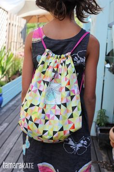 drawstring backpack with lining