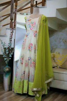 - - Source by Long Gown Dress, Lehnga Dress, Long Frock, Frock Dress, Lehenga, Kalamkari Dresses, Ikkat Dresses, Designs For Dresses, Dress Neck Designs