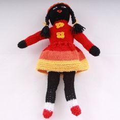 Meet little Eva... Isn't she the cutest? Find her and more cute crochet dolls here! / Conoce a la pequeña Eva... ¿No es la más linda? Consíguela a ella y a más tiernas muñecas de crochet aquí