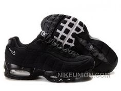 http://www.nikeunion.com/nike-air-max-95-black-silver-white-for-sale.html NIKE AIR MAX 95 BLACK SILVER WHITE FOR SALE Only $59.33 , Free Shipping!