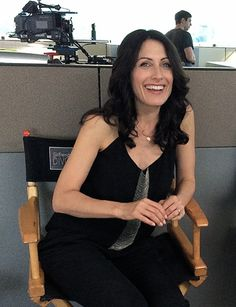 Lisa at the set of Girlfriends' Guide to Divorce