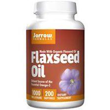 Flax Seed Oil, Organic,1000mg x 200Sgels, Skin, Joints, Heart, Jarrow Formulas,