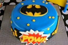 bolo do batman para aniversário Pow
