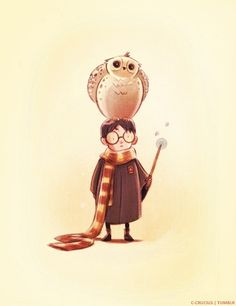 Harry and Hedwig. Words cannot begin to describe how or why I love this so much <3