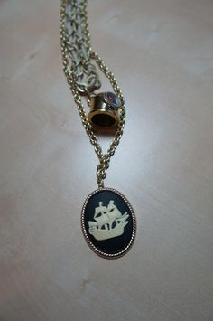 FOR SALE - FREE SHIPPING Nautical Ship Long Necklace by LCBeads2wear on Etsy, $35.00