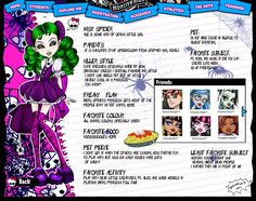 Monster High Wisy Spider by Axcido on DeviantArt