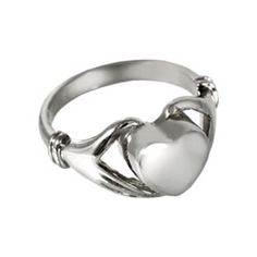Tender Heart Keepsake Ring for Ashes