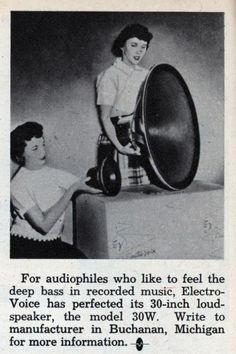 """ElectroVoice 30W altavoz de 30"""". Año 1959"""