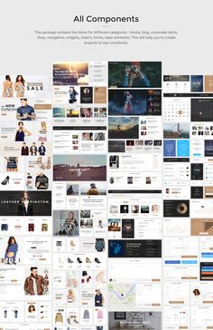 Creative and Modern Monica UI KIT.This big UI Kit set of elements is developed to ease your work. You can simply create new pages and elements in all your projects easily.200+ Components, 10 Categories, 1100+ UI Elements