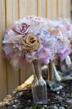 LOVE MY BOUQET! and I love that I can keep it forever, the flowers never die :) Shabby Chic Wedding Bouquets, Bridal and Bridesmaids, Wedding Detail