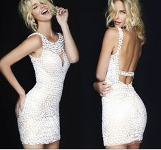 Hollow sexy dress sequins backless fashion