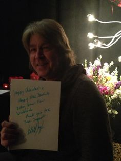 """MICK TAYLOR rollingstonesofficial: """" A festive note for you from former Rolling Stone Mick Taylor: """"Happy Christmas + Happy New Year to Rolling Stones Fans Worldwide. Thank you for your support, Mick. Rolling Stones Concert, Ron Woods, Charlie Watts, Keith Richards, Lady And Gentlemen, Funny Moments, Rock Bands, Rock And Roll, Rolls"""