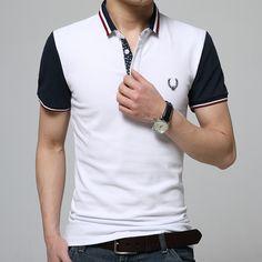 2016 de La Moda EE.UU. Polo Camisas de Polo de Los Hombres Camisa de Verano de…