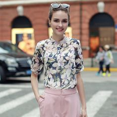 Find More Blouses & Shirts Information about 2016 New Fashion Printed Designs Half Sleeve Chiffon Blouse For Women Summer Vitange Shirts Blouse Shirt,High Quality blouse white,China blouses summer Suppliers, Cheap blouses pictures from Quintina on Aliexpress.com