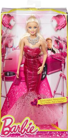 Barbie Pink amp Fabulous Glamour Doll New in Box Beautiful Retired Toy Glamour Dolls, Mattel Dolls, Barbie Collector, Ever After, Kids Toys, Bodycon Dress, Box, Pink, Popular