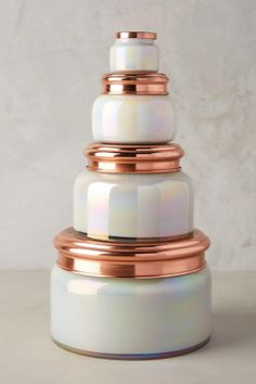 iridescent volcano candle from Anthropologie (3rd biggest size)