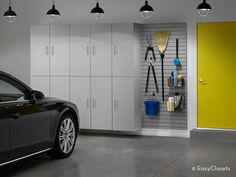A fresh, clean storage solution for the garage.