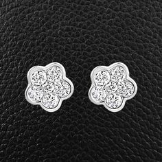 Diamond Flower-shaped Earrings – CRAIGER DRAKE DESIGNS®