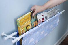Esta prateleira em tecido é charmosa e não ocupa muito espaço (Foto: minhasinger.com.br)