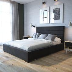 Łóżko tapicerowane Street » Łóżka do sypialni z pojemnikiem » Senpo Condo, Modern Bedroom, Interior, Rooms, Furniture, Home Decor, Head Boards, Bedroom, Bedrooms