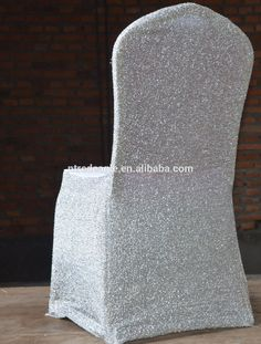 spangle sequin spandex chair cover for wedding and decoration