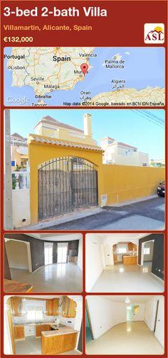 3-bed 2-bath Villa in Villamartin, Alicante, Spain ►€132,000 #PropertyForSaleInSpain